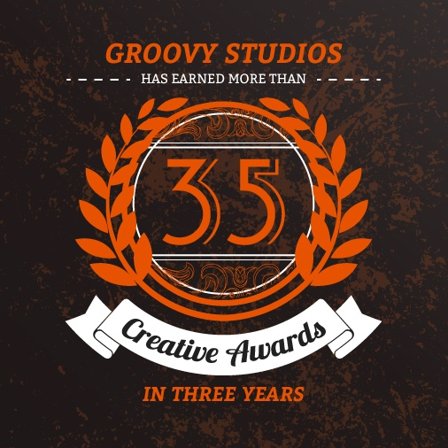 Groovy Studios Wins 35+ Awards in 3 Years